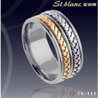 Wholesale tungsten ring with silver and gold inlay TX-111 from china suppliers