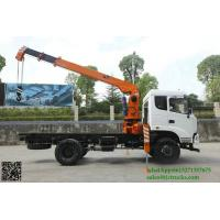 Quality Custermizing  4x2 5 ton truck crane 125 Kn.m crane truck model No SQ5S3 new condtion 5 ton truck  sale App:8615271357675 for sale