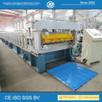 Wholesale High Speed Step Tile Roll Forming Machine with ISO Quality System , Roll Former Machine from china suppliers