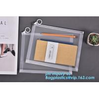 Wholesale plastic Zippered Envelope Ziplock Waterproof PP Bags Seamless Slider Closure Storage Pouch for A4 Paper,Magazine,Memo from china suppliers