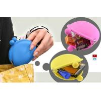 Wholesale OEM M Blue / Yellow / Pink Silicone Coin Pouch / Purse / Bag / Wallet For Women from china suppliers