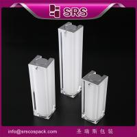 Wholesale SRS Airless Pump Cosmetic Containe 15ml 30ml 50ml Luxury Acrylic Personal care Packaging from china suppliers
