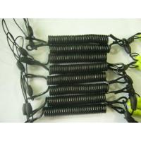 Wholesale Safe Spring Coil Lanyard with Mobile Phone Short Strap in Black Color from china suppliers