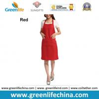 Wholesale Hot sale popular red color custom advertising apron for sales promotion cheap China price from china suppliers
