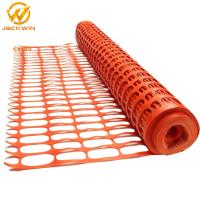 Wholesale Crowd Control Anti Uv Orange Plastic Barrier Fence / Security Plastic Fence For Construction Sit from china suppliers