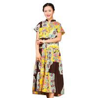 Wholesale Traditional Chinese Women'S Dress , Ladies Long Cotton Dresses Stand Neckline from china suppliers