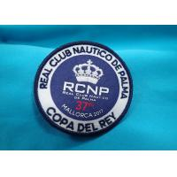 Wholesale Heat Press Badge Custom Embroidered Patches , Iron On Patch Applique For Clothing from china suppliers