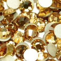 Wholesale non hot fix rhinestones trimming crystal beads ss10 topaz from china suppliers