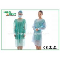 Wholesale 18-40G / m2 Medical Nonwoven Disposable Isolation Gowns with Knitted Cuff from china suppliers