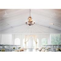Wholesale White Water Repellent PVC Fabric Cover Aluminum Frame Wedding Decoration Tent from china suppliers
