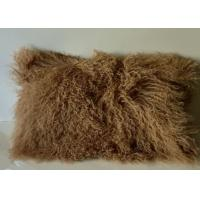 Real Sheepskin Tibetan Mongolian Wool Lamb Fur Coffee Pillow 12