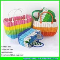 Wholesale LUDA 2015 new arrival trendy colorful pp straw beach towel tote bag from china suppliers