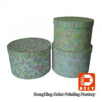 Quality Beautiful Round Small Coloured Cardboard Boxes With Lids Environmentally Friendly for sale