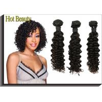 Wholesale Deep Wave 5A Virgin Malaysian Curly Hair Weave , Long Hair Extensions from china suppliers