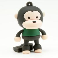 Wholesale Cute monkey shape 1G, 2G, 4G PVC USB Flash Drive with 5 years warranty (MY-UPVC03) from china suppliers