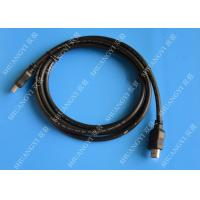 Wholesale Gold Plated High Speed HDMI Cable , Black Heavy Duty Round HDMI 1.4 Cable from china suppliers