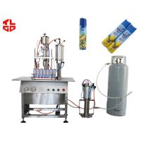 Wholesale Automatic 3 In 1 Liquid Filling / Sealing And Gas Filling Machine For Aerosol Products from china suppliers