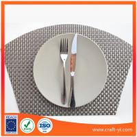 Wholesale woven Vinyl Placemats Pvc Dining Table Mats Coaster from china suppliers