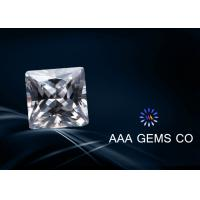 Wholesale Engagement Rings Lab Created Moissanite Colorless Princess Square from china suppliers