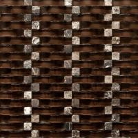Wholesale Chocolate 12x12 Stone Glass Mosaic Tile Backsplash For Kitchen Wall from china suppliers