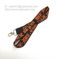 Wholesale Wholesale woven lanyard with embroidered logo and metal clip from china suppliers