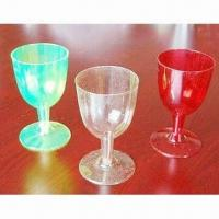 Wholesale Plastic wine glasses, available in green, white and red colors from china suppliers