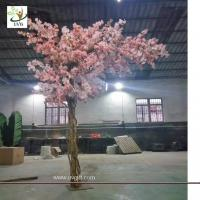 Wholesale UVG 12ft high pink color artificial cherry blossom trees for weddings CHR157 from china suppliers