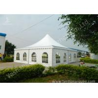 Quality Recreation White PVC Fabric Cover High Peak Tents for Fun on Grassland for sale