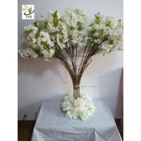 Buy cheap UVG Tree branches for centerpieces with white artificial cherry blossom indoor wedding use CHR091 from wholesalers