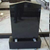 Buy cheap China absolute black shanxi black granite tombstone on sale from wholesalers
