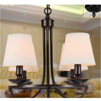 Wholesale Customized Fabric Cover E27 Bulb 4 Light Chandelier for Dinning Room from china suppliers