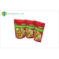 Wholesale Red Matte Printed Stand Up Pouch Packet With Hanging Round Hole For Fruit Chips from china suppliers