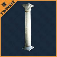 Interior decorative natural stone column with white marble for Interior columns for sale