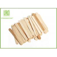 Quality Natural Wood Sticks Disposable Ice Cream Spoons With Logo Engraved for sale