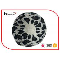 Wholesale Leopard Jacquard Pattern Crochet Slouchy Beret 100% Acrylic For Ladies from china suppliers