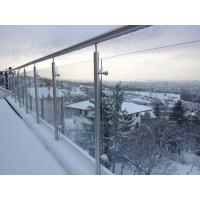Wholesale cheap manufacturer stainless steel baluster glass railings outdoor from china suppliers