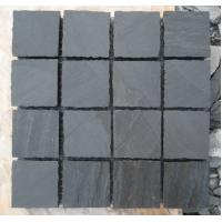 Wholesale Natural Black Slate Tumbled Flagstone Patio Flooring Pavers Dark Grey Slate Paving Stone from china suppliers