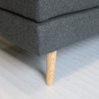 Quality Right Hand Fabric Corner SofaPolyster Blend With Solid Wood Construction for sale
