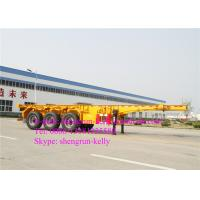 Wholesale 40ft 3 Axles Trailer Chassis / 40 Tons Capacity 40ft Shipping Container Trailer from china suppliers