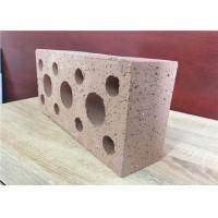 Wholesale Weather Resistant Hollow Clay Brick Veneer , Clay Hollow Blocks 35% Void Ratio from china suppliers