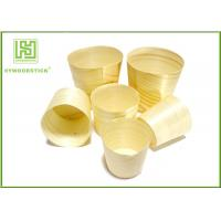 Buy cheap Smooth Healthy Wooden Sushi Boat Disposable Poplar Wooden Cups For Sauce from wholesalers