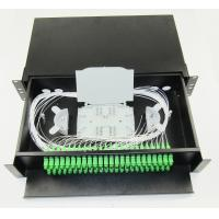 Wholesale Sliding drawer type terminal box 19 inch Fiber Optic Patch Panel 48ports black cold rolling steel sheet SC/APC adapter from china suppliers