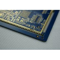 Wholesale Blue Solder and Semi Holes Custom PCB Boards / Multilayer PCB Fabrication 20 Layer from china suppliers