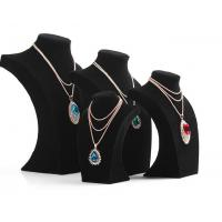 "Wholesale Jewelry Display Multi Necklace Holder Bust in Black Velvet Height 12"",10"",9"",7"" from china suppliers"