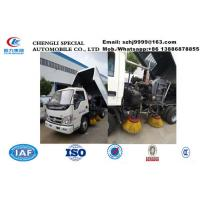 Wholesale cheapest price forland 4*2 LHD road sweeer truck for sale, Factory sale customized smallest mini street sweeper vehicle from china suppliers