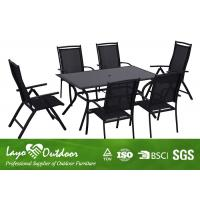 Quality Adjustable Chairs Extendable Dining Table Set For Patio / Garden / Outdoor for sale
