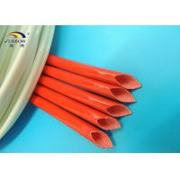 Wholesale Colored Heat Treated 2.5KV Fiberglass Braided Wire Sleeve / Silicone Resin Coated Fiberglass Sleeving from china suppliers