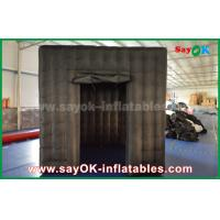Wholesale 2 Doors Inflatable Photo Booth With LED Light Oxford Cloth 2.5m  Black from china suppliers