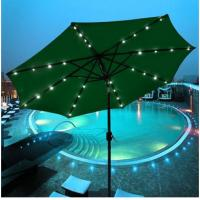 Wholesale Garden Backyard LED Solar Lighted Patio Umbrellas For Outdoor Sunshade from china suppliers
