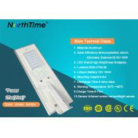 Wholesale Energy Saving Smart Solar Street Light All In One IP65 Phone App Control from china suppliers